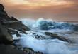canvas print picture - wave
