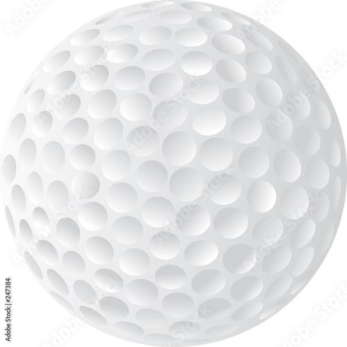 Valokuva  golf ball illustration