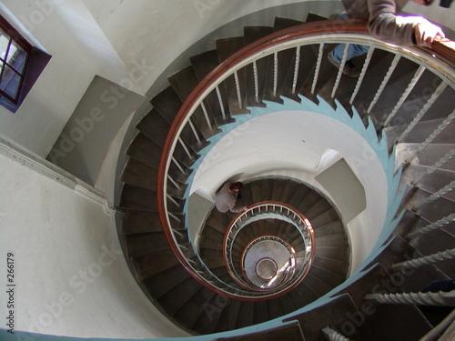 Photo sur Toile Spirale wendeltreppe im leuchtturm
