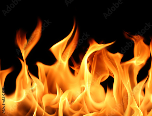 Door stickers Fire / Flame flames background