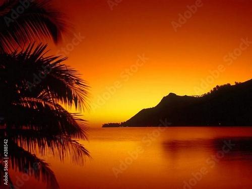 Foto-Schiebegardine Komplettsystem - coucher de soleil