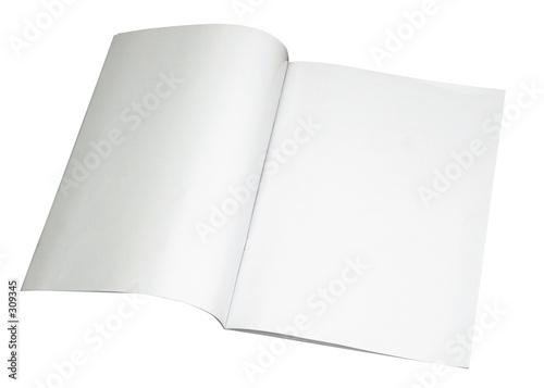 Photographie  Magazine blanc propagation w / chemin