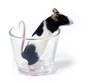 canvas print picture mouse in a glass