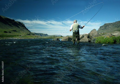 Poster Fishing flyfishing