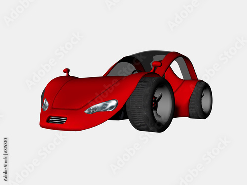 Stickers pour porte Voitures enfants sports car one