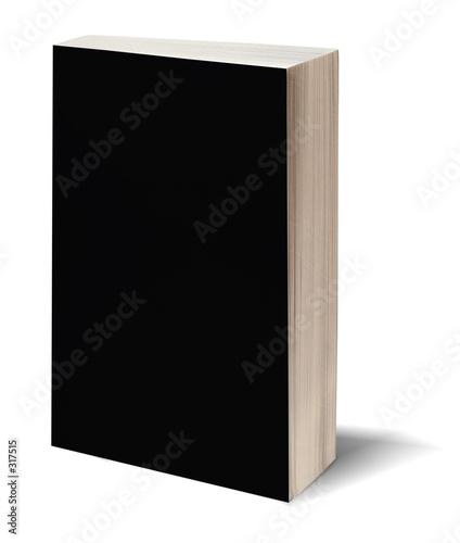 Photo blank black book w/path
