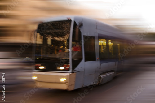Photo  abstract tram