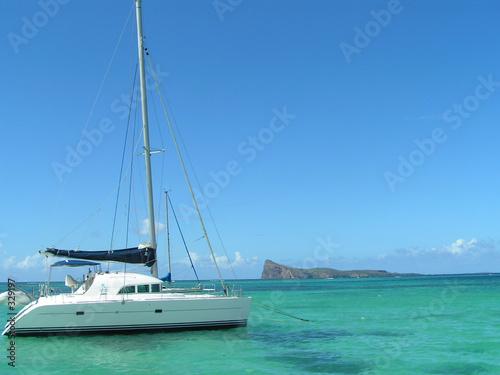 Fotografie, Obraz coin de mire & catamaran