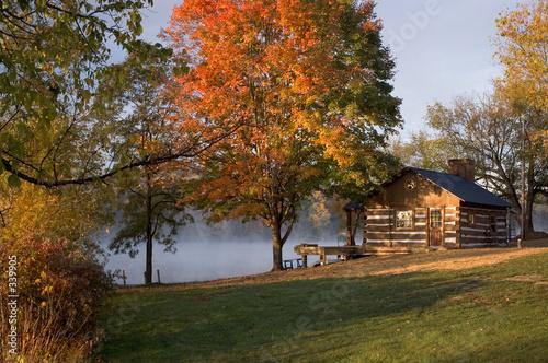 Cuadros en Lienzo cabin on the lake