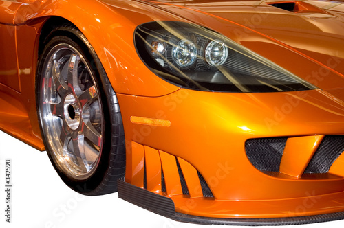 Deurstickers Snelle auto s front fender of a stylish sports car