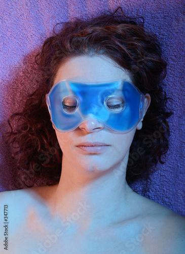 Fototapety, obrazy: blaue maske