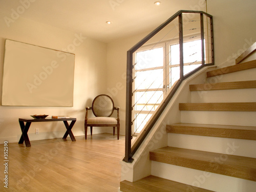alcove and stairs Wallpaper Mural