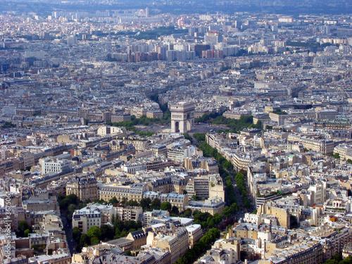 Photo paris aerial view