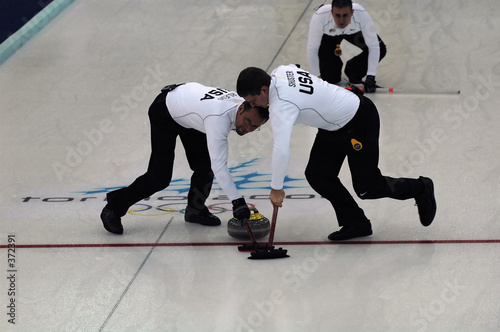 Leinwand Poster curling