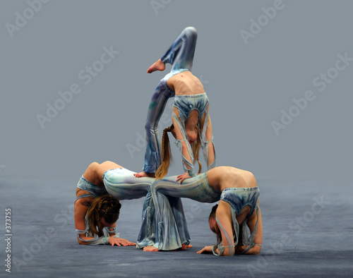 Photo  contortionist girls
