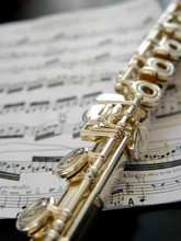 Flute On Music Notes