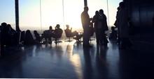 Silhouetted Bar Scene