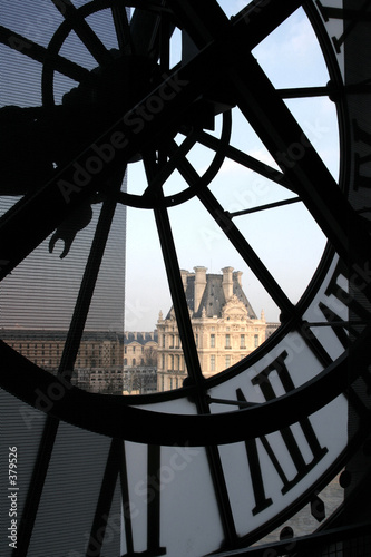 Fotografiet clock at the orsay museum