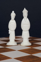 chinese chess set white king adn queen