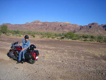 Woman Traveling By Motorcycle