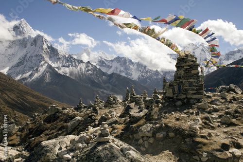 Staande foto Nepal chukpilhara memorials - nepal