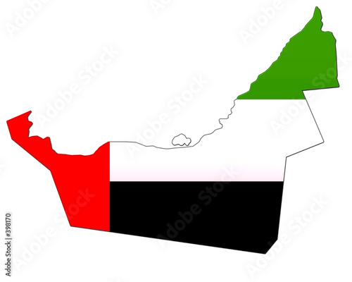 Stampa su Tela carte des emirats arabes unis