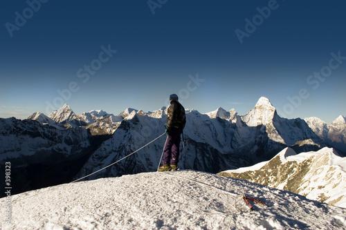island peak summit - nepal Wallpaper Mural