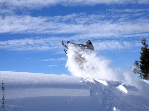 Poster Wintersporten davey jumping polaris 600 rmk