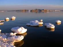 Spring. Ice Drift On Gulf Of Finland