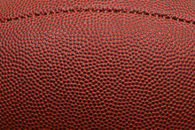 Close-up Of Football With Seam