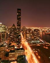 New York Skyline Night View
