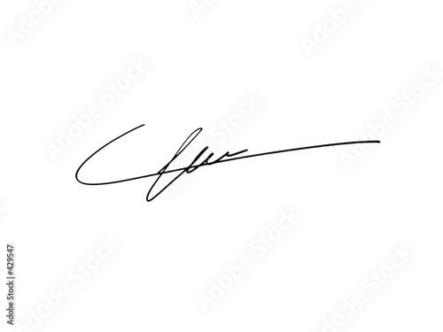 plakat signature
