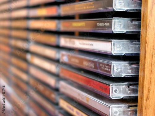 Obraz music cd stack - fototapety do salonu