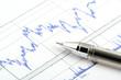 ballpoint pen on print chart
