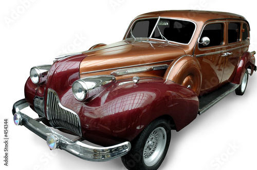 Photo Stands Old cars car 2 (isolated)
