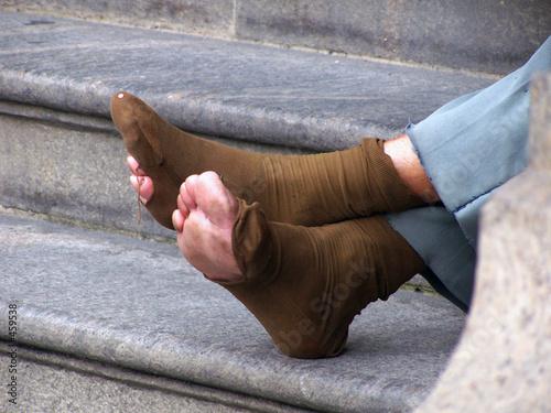 Obraz na plátně  homeless legs