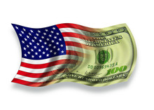 Flag And Money