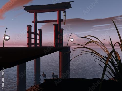 Foto-Doppelrollo - japanisches tor (von Nicole Steinbichler)