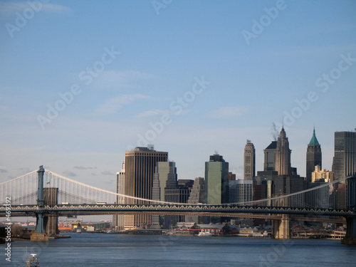 Poster London manhattan skyline