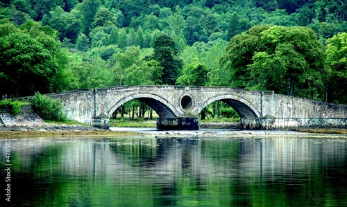old scotland bridge Canvas Print