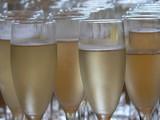 Fototapeta Kawa - champagne glasses