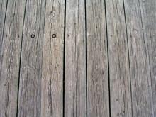 Wood Slats In A Pier