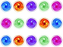 Colorful Glass Spiral