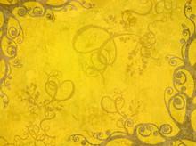 Yellow Artistic Frame