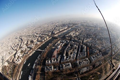 Cuadros en Lienzo france, paris: aerial view from eiffel tower