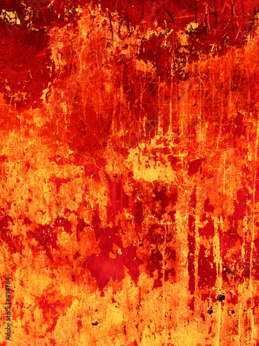 Valokuvatapetti old red wall background