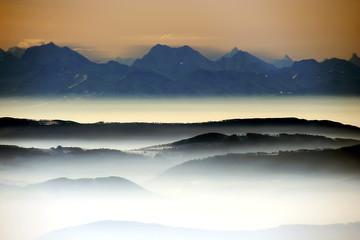 fototapeta widok na chmurze