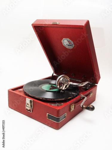 Fotografía isolated retro record player