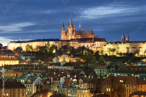 Poster Prague prague castle cityscape