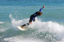 Experienced Surfer Carving An ...